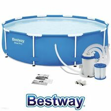 Bestway 10FT 305cmx76cm Steel Pro-Round Swimming Pool with Filtration Pump