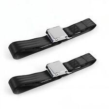Ford Fairlane 1962 - 1965 Airplane 2pt Black Lap Bucket Seat Belt Kit - 2 Belts