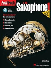 FastTrack E-flat Saxophone 1 Music Instruction Book and Audio New 000695241
