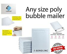 Poly Bubble Mailers Any Size Shipping Mailing Padded Bags Free Shipping