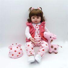 22'' Cute Handmade Lifelike Newborn Girl Doll Silicone Vinyl Reborn Baby Doll