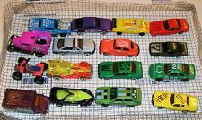 Mixed Lot of 16 used toy cars/trucks, kid played with.