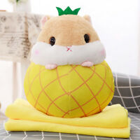 Hamster Plush Stuffed Animal Toys Fruit Hamster Kawaii Stress Reliever Toy