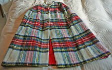 Mohair wool authentic Tartan cape, vintage, made in Great Britain