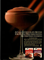 Vintage 1986 New Jell-O Rich & Luscious Mousse  Print Ad Advertisement