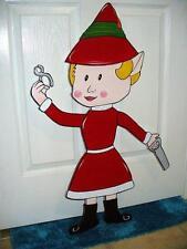HAND MADE GIRL ELF 33'' X 18'' FROM RUDOLPH STORY. CHRISTMAS YARD ART DECOR
