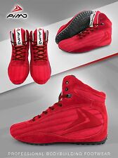 PIMD Red X-Core Gym Shoes Training High Top Boots Bodybuilding MMA Boxing NEW