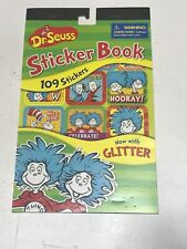 Dr Seuss Thing 1 Thing 2 sticker book 109 Reward stickers