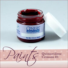 Genesis Paint Quinacridone Crimson 01 1 fl oz For Reborn ~ Reborn Doll Supplies