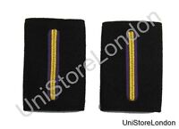 Epaulette Merchant Navy Chief Officer Hard Curved  3 Gold Bar R1249