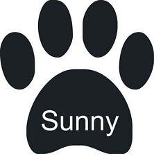Autoaufkleber Hundepfote mit Namen für Auto / Heckscheibe in Wunschfarbe
