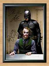 Batman The Joker Heath Ledger Dark Knight Signed Autographed A4 Poster Print