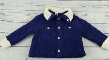 Vintage Blue Baby Boy Coat Jacket Size 2T-4T