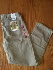 Nwt Mens Member's Mark Comfort Fit Khakis Straight Leg Pants 34WX32L Tan Stretch