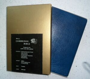 Cambridge KJV Bible in Blue Leather Bound on India Paper & Boxed