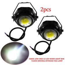 6000K 10W CREE U2 LED WORK LIGHT BAR FLOOD DRIVING SIGNAL OFFROAD FOG LAMP 4X4WD