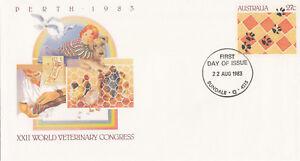(13874) Australia Postal Stationery FDC Veterinary Congress 1983