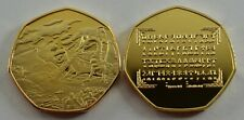 TOLKIEN & MIDDLE EARTH 24ct Gold Commemorative. Rune Translator, Dragons