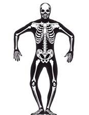 Second Skin Skeleton Mens Costume Morph Suit Mask Size Large