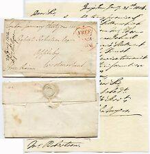 1804 GB liberi Frank GRANDE CORONA... Wrapper con 2 LETTERE racchiuse J Raine MP