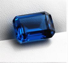 5x3mm - 13x11mm Lab Created Rich Vivid Blue Sapphire AAA Emerald Cut Loose Gem