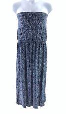 NEXT BLUE WHITE STRAPLESS LONG MAXI DRESS PLUS SIZE UK 20 11136