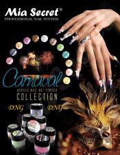 * 12 Colors Mia Secret Acrylic Powder Carnival 3D Nail Art Made in USA