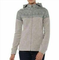 PATAGONIA Womens Size L Gray Aztec Hoodie Zip Up Jacket