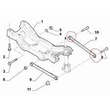 KIT BOCCOLE SILENTBLOCK ASTA POSTERIORE FIAT 500 X JEEP RENEGADE 4X2 ( PARTE POS