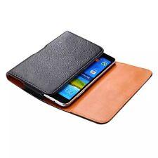 Black leather case belt clip for Huawei Ascend Mate2 4G MT2-L03  e
