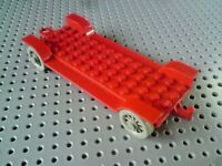 Lego Fabuland Car Chassis 6x14 [x612] Red with Grey Wheels x1