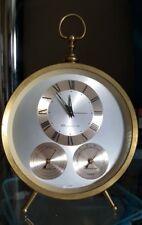 Vintage BULOVA Desk Weather Station WindUp Science Clock Hygrometer Temperature