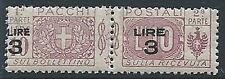1923-25 REGNO PACCHI POSTALI 3 SU 10 LIRE MNH ** - ED776
