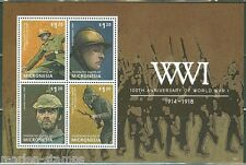 MICRONESIA 2014 100TH ANNIVERSARY OF WORLD WAR I  SOLDIERS  SHT MINT NH