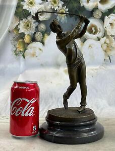 Art Deco Hot Cast Male Golfer Sport Memorabilia Bronze Sculpture Statue Figurine