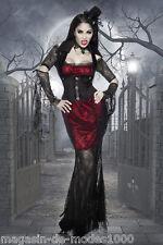 Hexen/ Vampir Halloween-Kostüm Fasching  Karneval