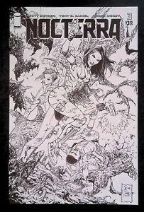 Nocterra #3 (2021) Image Comics 1:10 sketch variant B&W Gyllenhaal movie option
