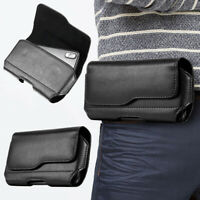 Mens Waist Hang Bag PU Leather Phone Case Cover Belt Holster Clip Pouch Sleeve