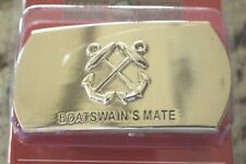 USN US NAVY USS SHIP SHORE AIR CREWMAN BOSUN'S MATE RATE SPECIALTY BELT BUCKLE