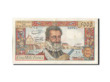 Billets, France, 5000 Francs, 5 000 F 1957-1958 ''Henri IV'', 1957 #208596