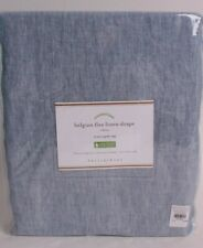 Pottery Barn Classic Belgian Flax Linen curtain panel 50x84, chambray blue
