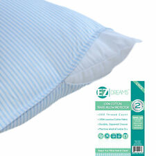 """Travel Size 100% Cotton Pillow Protector: 200 Thread Count, Zippered, 14"""" x 20"""""""