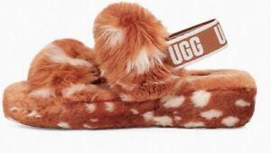 NIB UGG Women's Oh Yeah Spots Slide in Natural