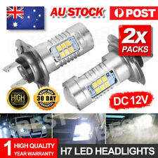 2pcs H7 Headlight Globes LED Light Xenon 6000k Car Lamp Bulbs 12V 21W White