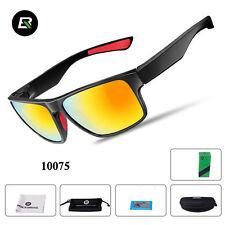 RockBros Cycling Polarized Full Frame Sunglasses Goggles Black Red Glasses
