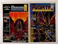 THE MIGHTY IMAGE LOT OF 2 COMICS #1 FREE FAN CLUB MEMBER ISSUE LETTER #3 (VF/NM)