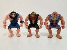 "Fisher Price Imaginext 2004 Lot of 3 Mini 2"" Cavemen Action Figures EUC"