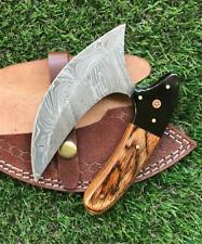 CUSTOM HANDMADE TWIST DAMASCUS STEEL ULU KNIFE X 11