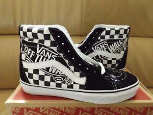 VANS SK8-HI (VANS Patch) Men's Shoes Size 10.5 Black/True White VN0A38GEUPV NEW