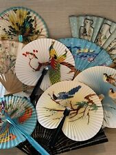 Vintage lot of hand fans from 1950's
